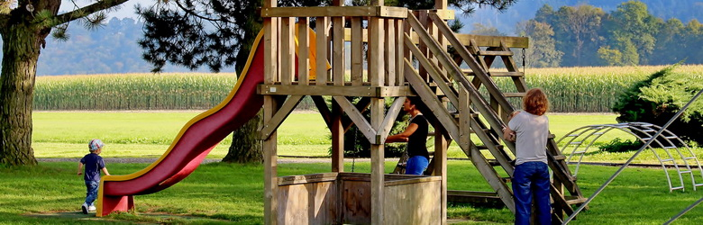 Playground Equipment and Safety Surfacing Wooden Castles & Playhouses, Climbing nets and inox games
