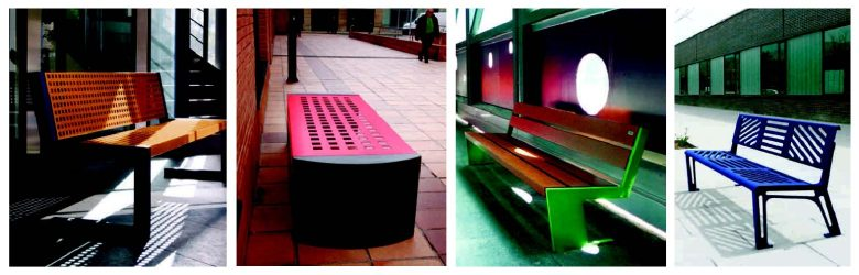 Urban Furnishing Playgrounds Benito Benches, Lighting, Fontains, Covers, Fences, Flower Boxes