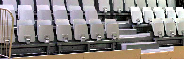 Audience Seating Systems made in Slovenia by Elan