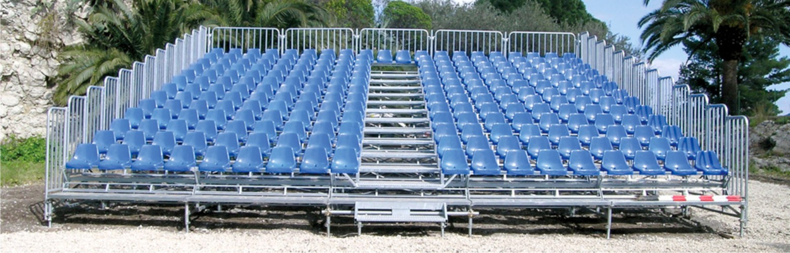 Tribunes Bleachers certified with ISO 9001-2008 by Mario Orlando